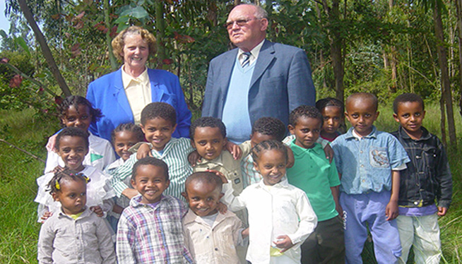 Selam's Children with Mr.David and Marie Louise Roeschli